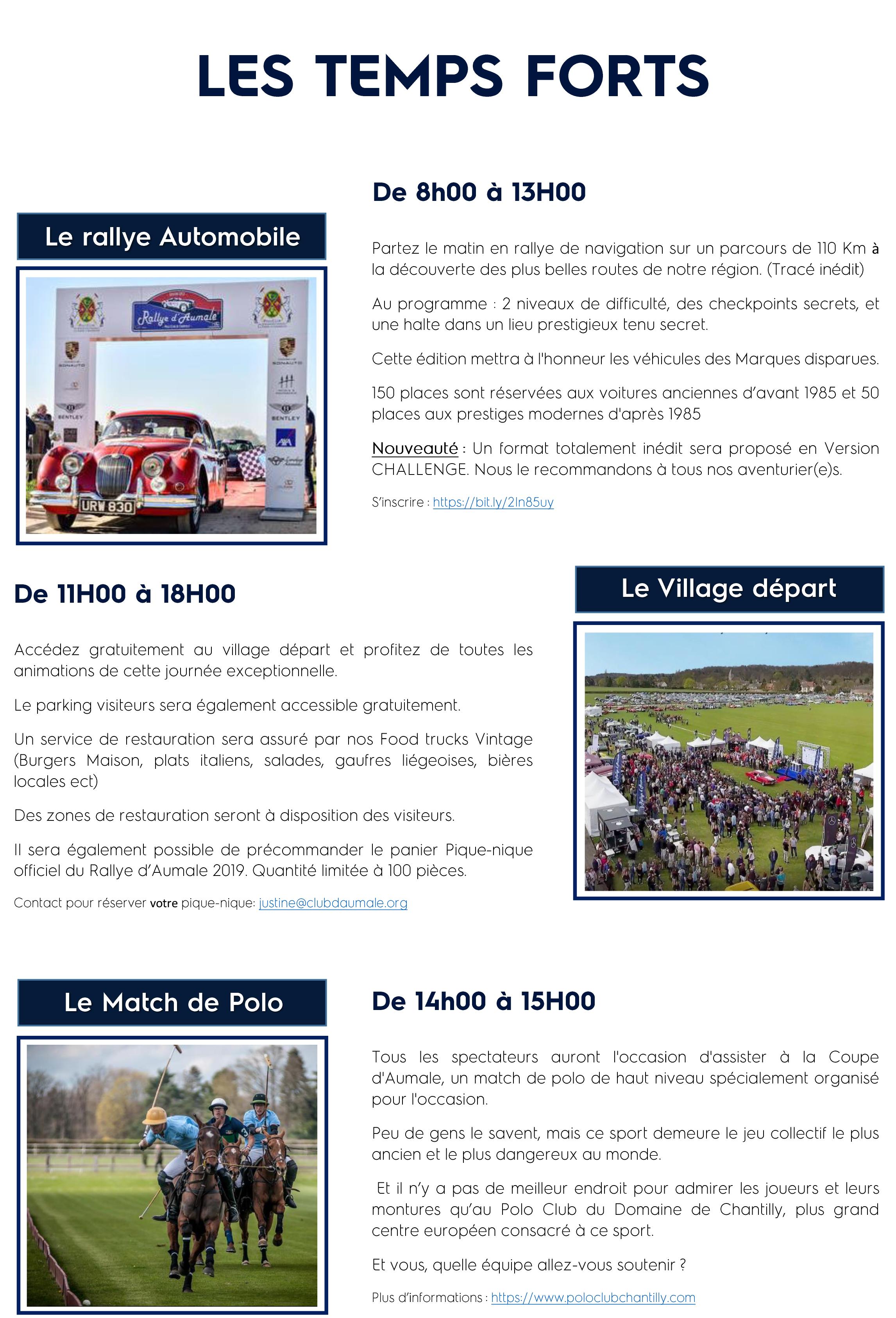 Programme Rallye d'Aumale 2019