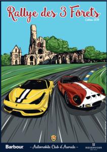 Affiche Rallye des 3 Forets 2019